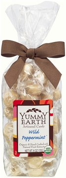 Organic Artisanal Candy Drops Wild Peppermint by Yummyearth - 6 oz.