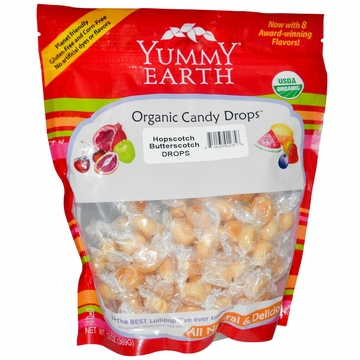 Organic Candy Drops Hopscotch Butterscotch by Yummyearth - 13 oz.