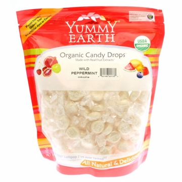 Organic Candy Drops Wild Peppermint by Yummyearth - 13 oz