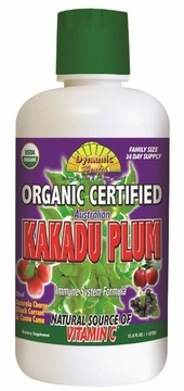 Organic Certified Kakadu Plum Juice by Dynamic Health Laboratories - 33.8 oz