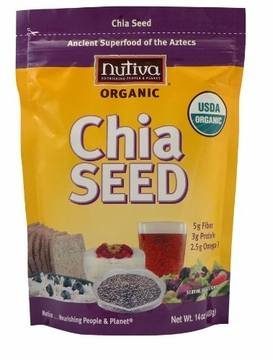 Nutiva Organic Chia Seeds - 12 Ounces