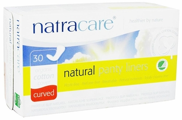 Organic Cotton Natural Panty Liners Curved by Natracare - 30 Liners