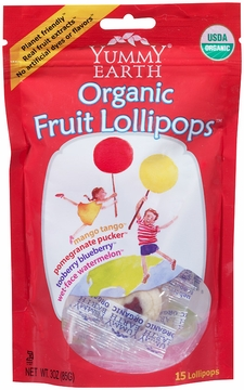 Organic Fruit Lollipops Assorted by Yummyearth - 3 oz.