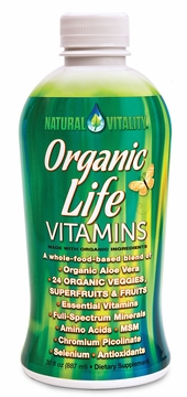 Organic Life Vitamins Liquid by Peter Gillhams Natural Vitality - 30 oz.