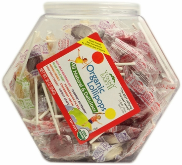 Organic Lollipops Counter Bin by Yummyearth - 150 Lollipops