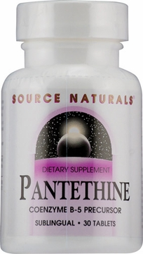 Source Naturals Pantethine Coenzyme B-5 Sublingual 25 mg - 30 Tablets
