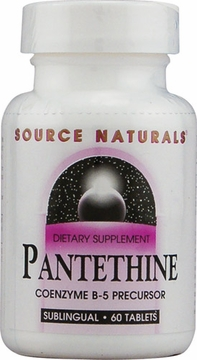 Source Naturals Pantethine Coenzyme B-5 Sublingual 25 mg - 60 Tablets