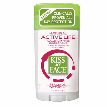 Kiss My Face Paraben Free Active Enzyme Deodorant Stick (Patchouli) - 2.48 Ounces