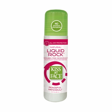 Kiss My Face Paraben Free Liquid Rock Roll-On Deodorant (Patchouli) - 3 Ounces