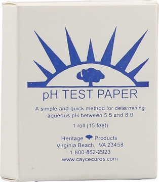 pH Testing Paper 180 Uses by Heritage Store - 1 Roll