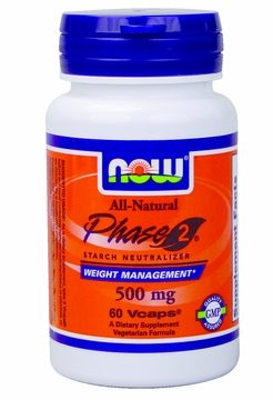 Now Foods Phase 2 500 mg - 60 Vegetarian Capsules