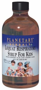 Planetary Herbals Loquat Respiratory Syrup for Kids - 8 Fluid Ounces
