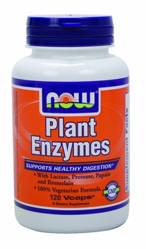 Now Foods Plant Enzymes - 120 Vegetarian Capsules