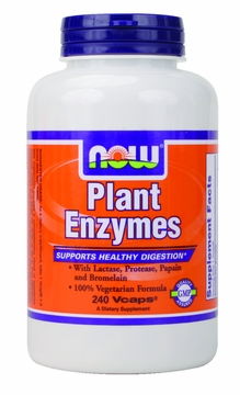 Now Foods Plant Enzymes - 240 Vegetarian Capsules