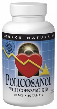 Source Naturals Policosanol with Coenzyme Q10 10 mg - 30 Tablets