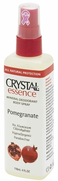Pomegranate Mineral Deodorant Spray by Crystal Essence - 4 oz
