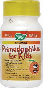 Primadophilus Kids Orange Flavor by Nature's Way - 30 Chewable Tablets