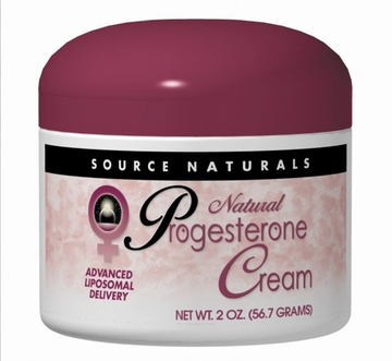 Source Naturals Progesterone Cream Jar - 2 Ounces