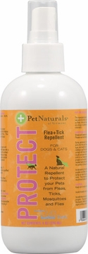 Pet Naturals of Vermont Protect Flea & Tick Repellent - 8 Fluid Ounces