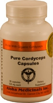 Pure Cordyceps 525 mg by Aloha Medicinals - 90 Capsules