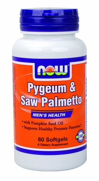 Now Foods Pygeum & Saw Palmetto Extract - 60 Softgels