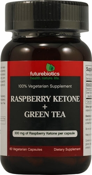 Futurebiotics Raspberry Ketone + Green Tea - 60 Vegetarian Capsules
