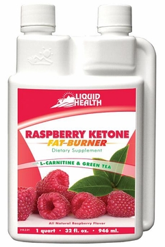 Raspberry Ketone Fat Burner with L-Carnitine & Green Tea by Liquid Health - 32 oz