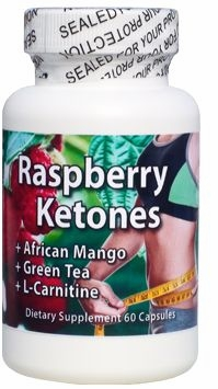 Raspberry Ketones with African Mango Green Tea & L-Carnitine by Natural Health Labs - 60 Capsules
