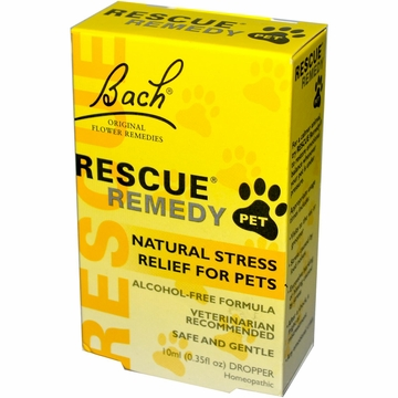 Rescue Remedy Pet Natural Stress Relief for Pet by Bach Flower Essences - 10 ml