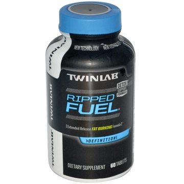 Twinlab Ripped Fuel Extended Release Fat Burning Formula - 60 Tablets