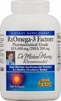 RxOmega-3 Factors by Dr. Michael Murray and Natural Factors - 240 Softgels