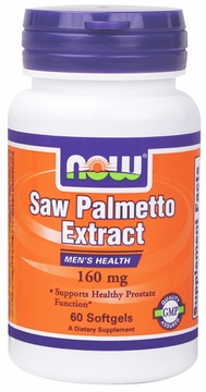 Now Foods Saw Palmetto Double Strength 160 mg - 60 Softgels