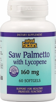 Saw Palmetto with Lycopene by Natural Factors - 60 Softgels