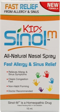 Sinol Sinol-M Kids Allergy & Sinus Relief Nasal Spray - 15 Milliliters