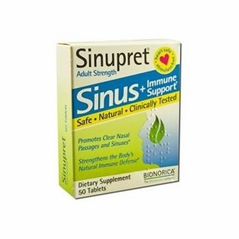Sinupret Adult Strength Sinus & Immune Support by Bionorica - 50 Tablets