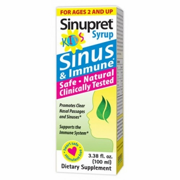 Sinupret Kids Sinus & Immune Syrup by Bionorica - 3.38oz.
