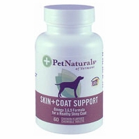 Pet Naturals of Vermont Skin and Coat for Dogs- 60 Chewable Tablets