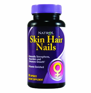 Skin Hair Nails by Natrol - 60 Capsules
