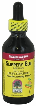 Slippery Elm Inner Bark Organic Alcohol by Nature's Answer - 2oz.