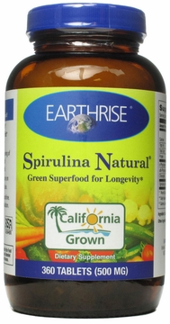 Spirulina 500mg by Earthrise - 360 Tablets