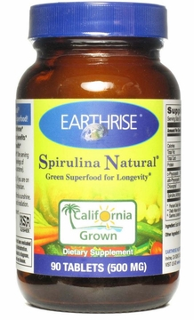 Spirulina 500mg by Earthrise - 90 Tablets