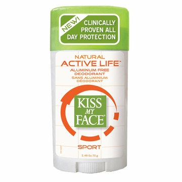 Kiss My Face Paraben Free Active Life Deodorant (Sport) - 2.48 Ounces