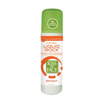 Kiss My Face Paraben Free Liquid Rock Roll-On Deodorant (Sport) - 3 Ounces