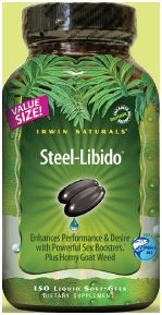 Steel Libido for Men by Irwin Naturals - 150 Liquid Softgels
