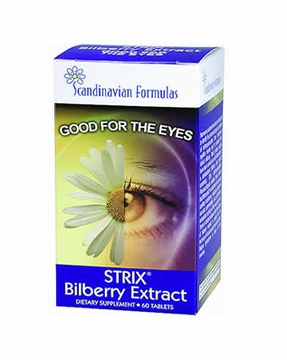 Scandinavian Formulas Strix Bilberry Extract - 60 Tablets