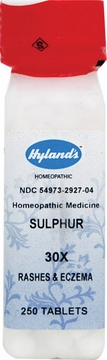 Sulphur 30X by Hylands - 250 Tablets