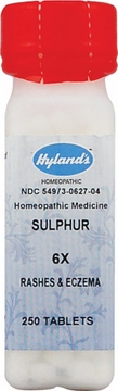 Sulphur 6X by Hylands - 250 Tablets
