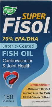 Super Fisol Fish Oil by Nature's Way - 180 Softgels