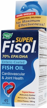 Super Fisol Fish Oil by Nature's Way - 45 Softgels