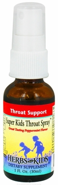 Super Kids Throat Spray Peppermint Flavor by Herbs for Kids - 1oz.